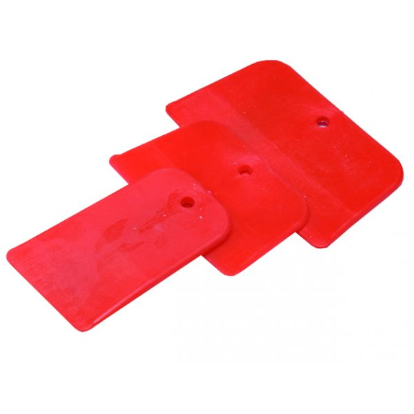 Set spatole lisce plastica rossa